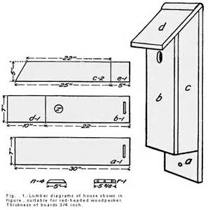 woodpecker nuthatches chickadees and titmice bird house plan