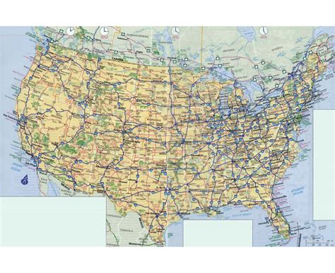 large us road map large usa road map images