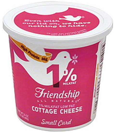 friendship cottage cheese small curd 1 milkfat lowfat