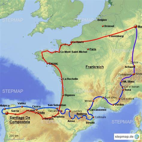Motorrad Landkarte Deutschland by Jakobsweg Motorrad Helden Landkarte F 252 R Deutschland