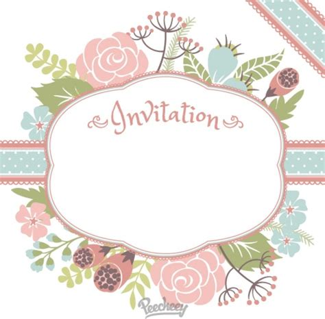 flower invitations templates free floral invitation free vector in adobe illustrator ai