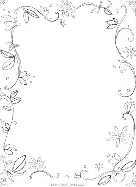 Coloring Page Border by 7 Images Of Border Coloring Pages Printable Printablee