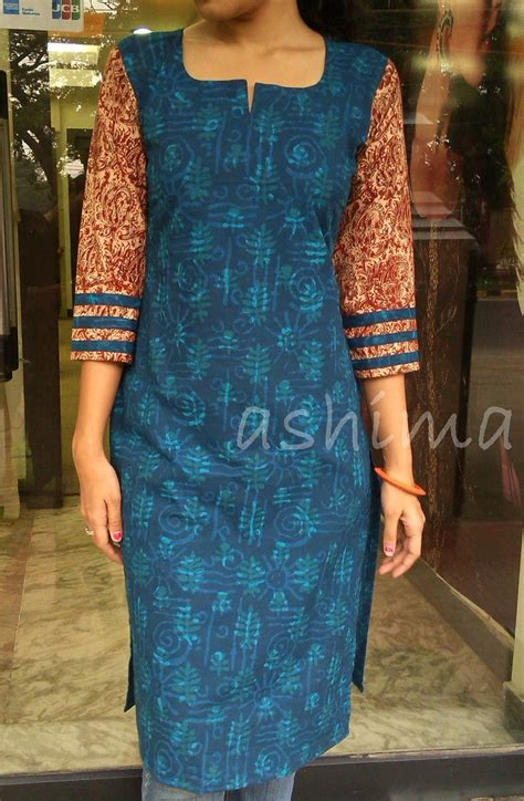 design house kurta online printed soft cotton kurta with kalamkari sleeve code
