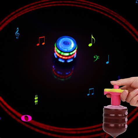 Top Spinning Light Show 1 colorful light spinning top luminous colorful circle