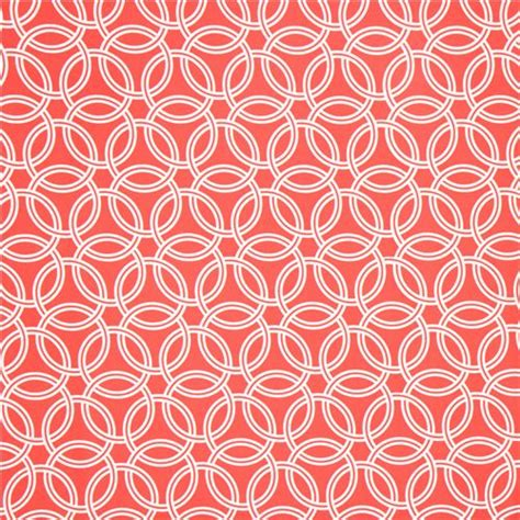 coral pattern coral red ring pattern cotton sateen fabric michael miller