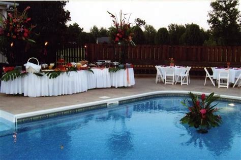 backyard pool wedding ideas swimming pool wedding decorations ideas home constructions