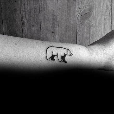 simple bear tattoo collection of 25 outline