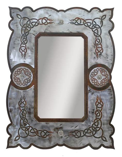 Celtic Wall Decor by 33 Quot Celtic Metal Wall Mirror Rustic Wall Decor