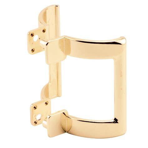 door with gold handle set prime line 2 1 4 in gold shower door handle set m 6161