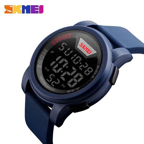 Jt0122 Jam Tangan Pria Skmei Sport Digital Silicone 1 skmei jam tangan trendy digital pria dg1218 blue jakartanotebook