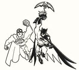 batman superman coloring sheets