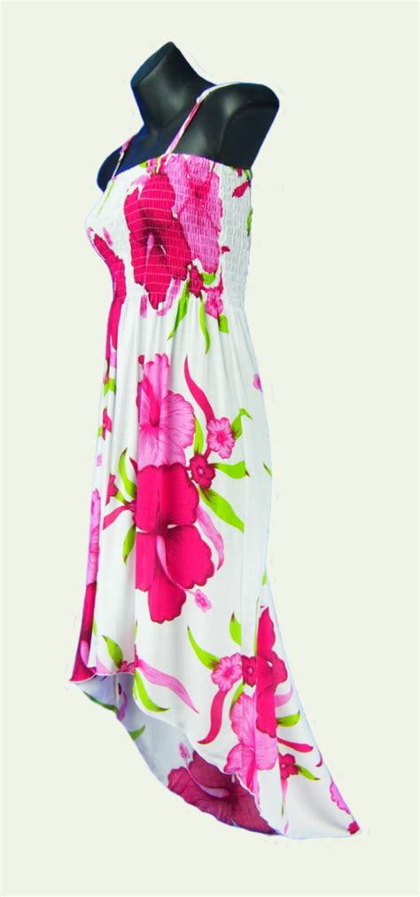 Wst 8918 Violet Flower Dress sarongsetc hibiscus flower hi lo sun dress