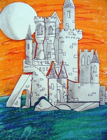 architecture lessons castle architecture lesson mixed media in art class pinterest artworks museums and collage