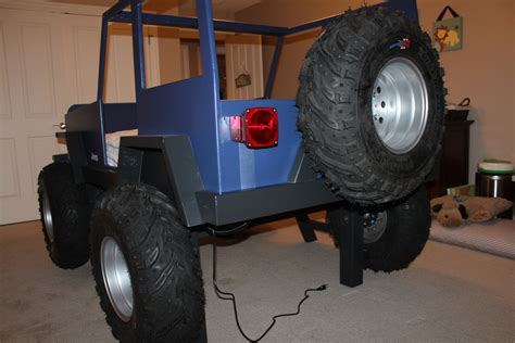 jeep bed kids jeep bed working led lights real tires