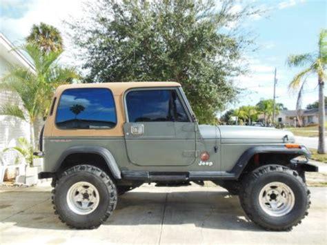 1992 Jeep Wrangler Gas Mileage Sell Used 1992 Jeep Wrangler Sport Utility 2 Door 4