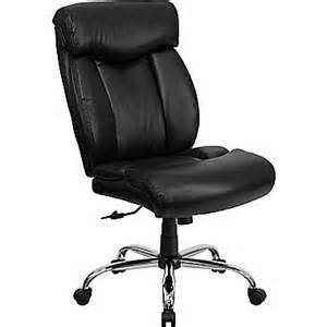 Leather Desk Chair No Arms Flash Furniture Hercules Series 350 Lb Capacity Big And