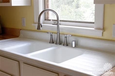 sink with built in drainboard emily drew create a charming 1940s style kitchen on a