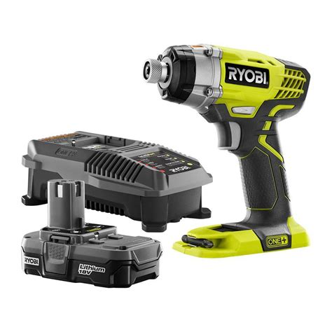 ryobi 18 volt one 1 4 in impact driver kit p1891 the