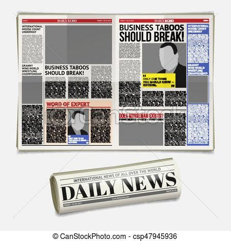 newspaper layout clipart vector daily newspaper template tabloid layout posting