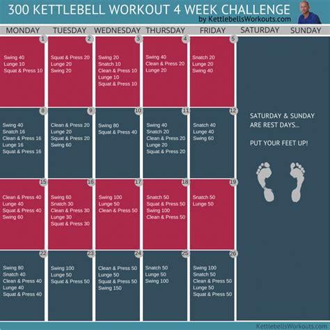 300 kettlebell swings 300 kettlebell workout challenge 4 weeks of fun