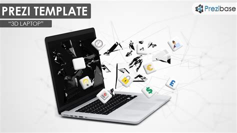 3d laptop prezi template prezibase