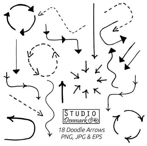 free doodle arrow vector doodle arrows clipart set 18 basic doodle arrows included