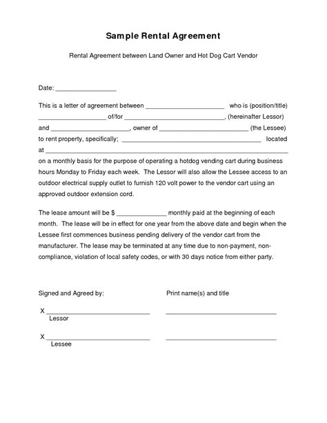 Letter Of Agreement Lease 9 Best Images Of Simple Sle Contract Agreement Template Simple Contract Template Simple