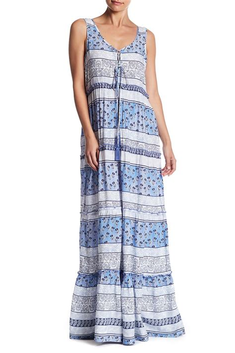 lunch lounge terrie maxi dress in blue lyst
