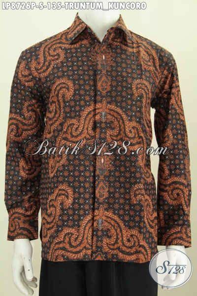 design batik lengan panjang design baju batik pria lengan panjang klasik terbaru