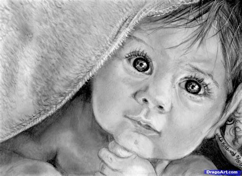 Sketches Realistic by How To Draw A Realistic Baby Step By Step Realistic