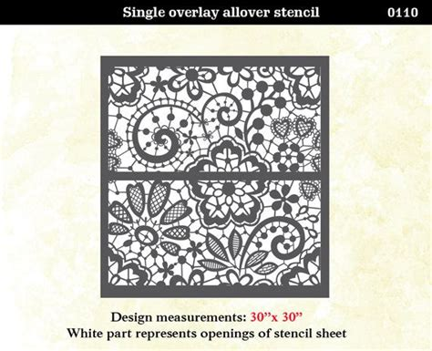 lace pattern wall wall stencil or floor lace floral trellis pattern by
