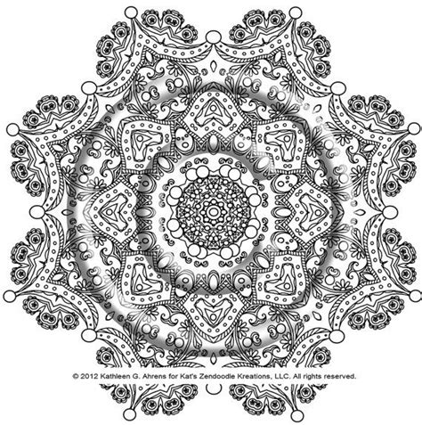 intricate mandala coloring pages instant coloring page zentangle