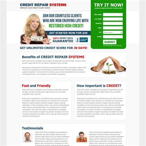 Credit Repair Templates Credit Repair Landing Page Design Template To Boost Your Credit Repair Business Page 3