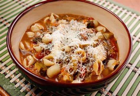crock pot minestrone soup from