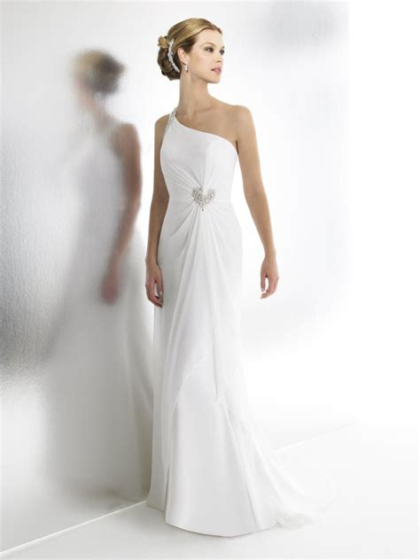 One Shoulder Wedding Dress by Chiffon One Shoulder Wedding Dress Hairstyle For