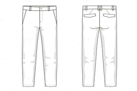 men s trousers fashion flat template templates on