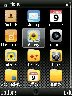 themes iphone s60v3 nokia 5800 and s60v3 iphone theme daily mobile