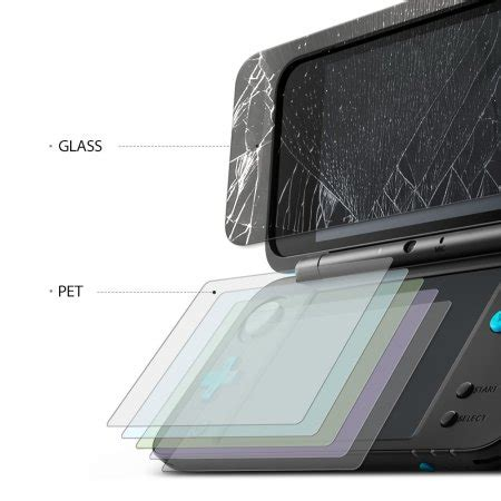 Hori Nintendo New 2ds Xl 9h Tempered Glass Lcd Bottom Screen Cover rearth id glass new nintendo 2ds xl glass screen protectors mobilefun co nz