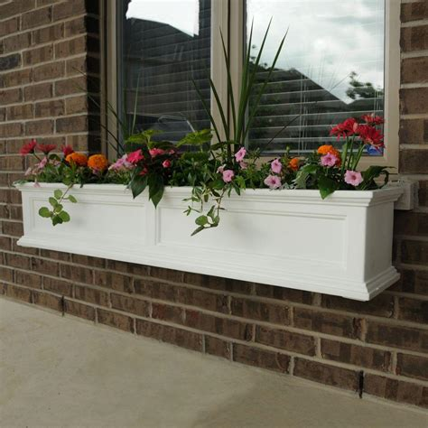 mayne fairfield 11 in x 60 in plastic window box 5824w