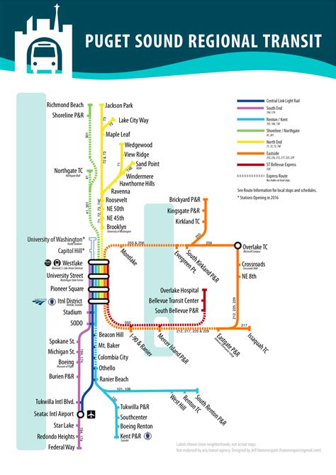 seattle map transportation re thinking metro s maps