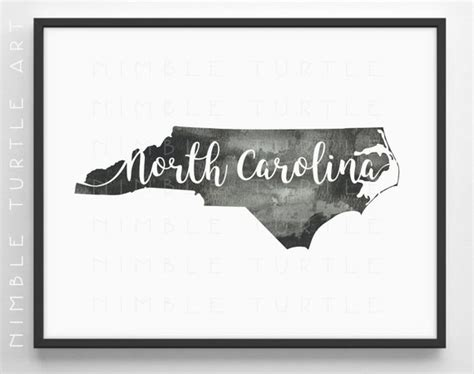 watercolor tattoo north carolina carolina state outline watercolor printable