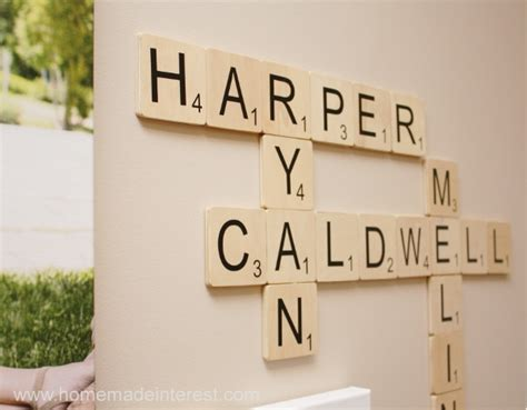 Scrabble Letters Home Decor by Family Wall Art Scrabble Edition