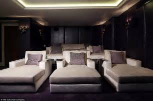 home theatre design uk the real cost of george and amal clooney s home cinema in their 163 10m mansion daily mail online