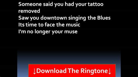 matching tattoos katy perry lyrics katy perry the one that got away lyrics youtube