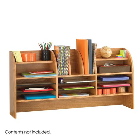 16 Compartment Desk Organizer Medium Oak Franklincovey Desk Organizers For