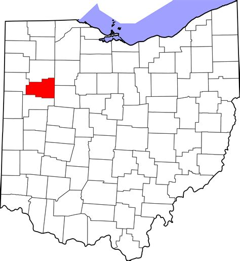 Allen County Ohio Property Records File Map Of Ohio Highlighting Allen County Svg Wikimedia