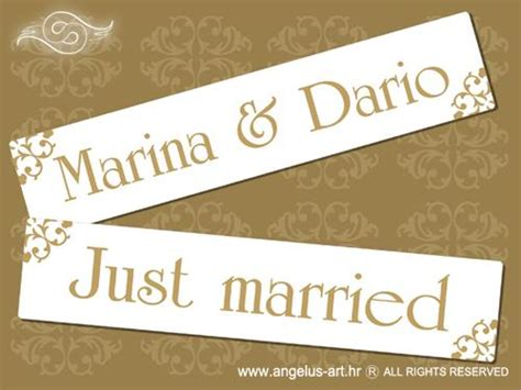 Wedding Car License by Car Licence Plate Type 10 Angelus