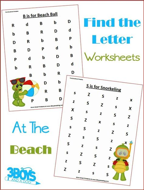 at the find the letter printables 3 boys and a
