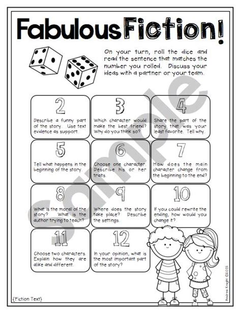 printable guided reading dice dice discussions differentiated prompts for engaging
