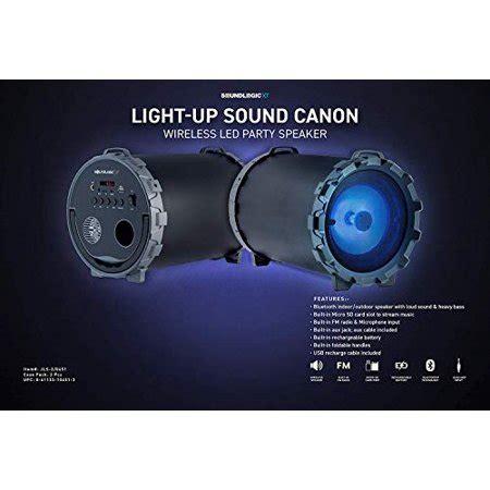 soundlogic light up bluetooth speaker soundlogic sound cannon light up led wireless bluetooth